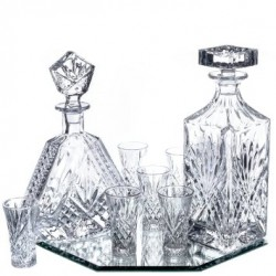 Dublin 8 Piece Crystal Liquor Set - 6 Shot Glasses