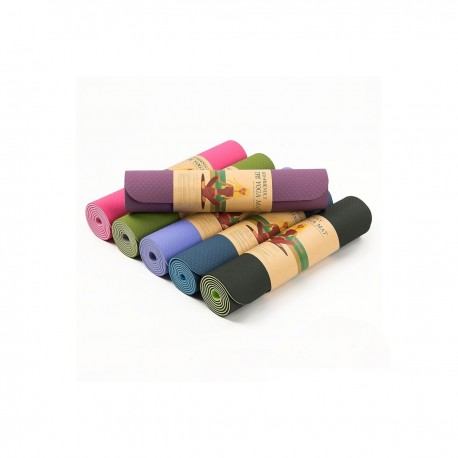 DOUBLE COLOR TPE YOGA MAT 6MM OUTDOOR CAMPING MAT ANTI-SKID DURABLE AND ENVIRONMENTALLY ECO FRIENDLY TPE YOGA MATS