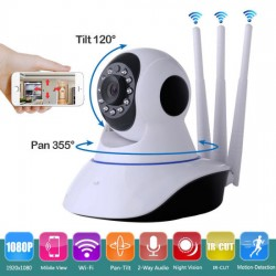 Three Antenna Wifi Security 2.0MP surveillance Camera