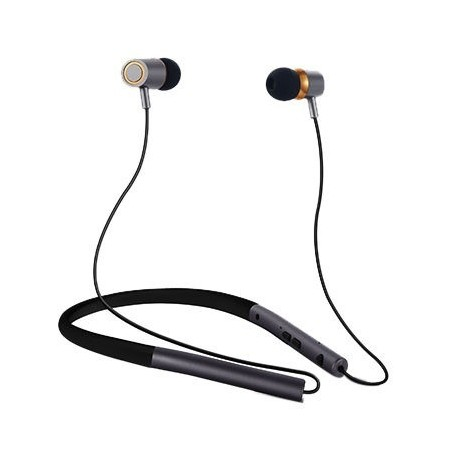 Wireless Fashion Earbuds Neckband Stereo Sport Headphone with Mic for Running