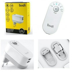 Budi Cell Phone Charger Budi Cell Phone Double USB Wall Charger Professional Digital Timer Charger with CE Certified