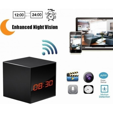WIFI REMOTE NETWORK ELECTRONIC CLOCK CAMERA