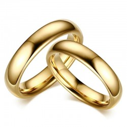Gold Plated Tungsten Carbide 6mm