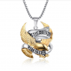 Classic LIVE TO RIDE 361L Steel Bikers Pendant(SK-R20)