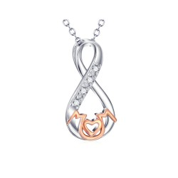 Sterling Silver Infinity Rose Gold Plated