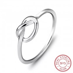 S925 Silver Romantic Knot Ring MR064R