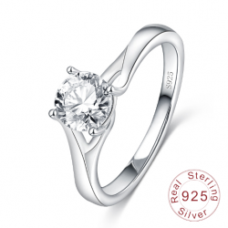 S925 Silver Luxury CZ Proposal Ring MR020R
