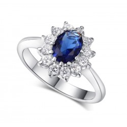 Princess Kate Lady Diana Inspired 2.5ct Sapphire Ring MR007R