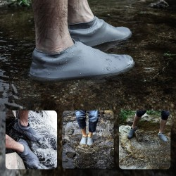 Silicone Boot and Shoe Covers, Waterproof Rain Socks