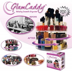 "VERSATILE ROTATING ""GLAM CADDY"" COSMETIC ORGANIZER"