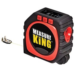 Measure King 3-in-1 Digital Tape Measure String Mode, Sonic Mode & Roller Mode