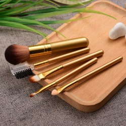 5pc Makeup Brush Set Foundation Blending Power Eyeshadow Contour Concealer Blush Loose Powder Cosmetic Beauty Make Up brushes