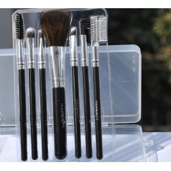 7 pcs Makeup Brush Set Black