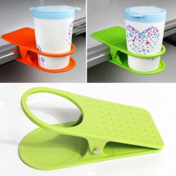 Plastic Desk Cup Drink Water Clip Coffee Cup Working Table Set Rack For Office / Home