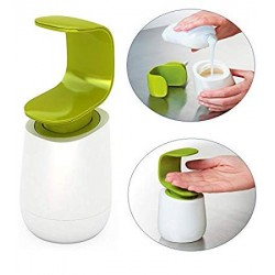 WORBAX Plastic C-Shaped Liquid Soap Dispenser Liquid Wash Bottle, Small (White Green Color)