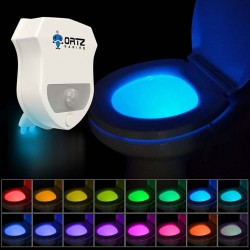 16 Color Motion Activated Toilet Light Night LED Light Changing for Bathroom Perfect Decorating Water Toilet Light