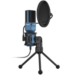Yanmai SF-777 1.4m Computer Game Recording Condenser Microphone with Pop Filter & Tripod Stand