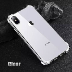 Shockproof Clear Phone Case For iPhone X/XS, Transparent Protection Back Cover