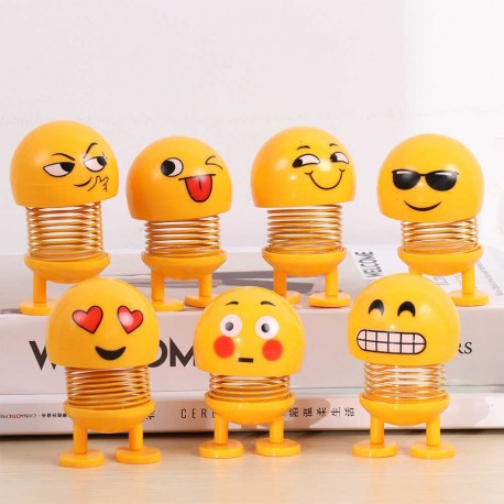 LED Creative Car Smiley Spring Doll