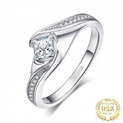 S925 Silver 0.55ct CZ Wedding Ring