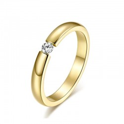18K Gold Plated CZ Wedding Band MR075R