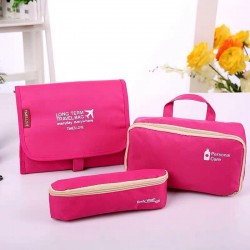 Multifunctional Long Term Bag Waterproof Toiletry, Cosmetic Bag with 2 Detachable Pouches