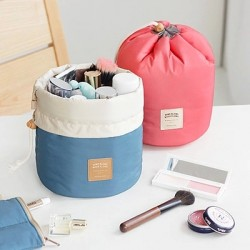 Barrel Shaped Travel Bag Makeup Bag Travel Kit Organizer Bathroom Storage Carry Case Toiletry Bags