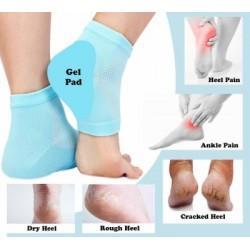 Fabric Anti Heel Crack Set Socks Pain Foot Gel Relief Anti Silicone Moisturizing Support Crack
