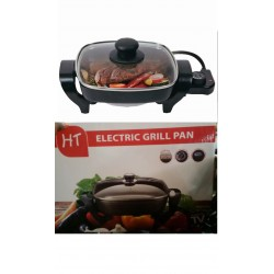 White Label HT-F88832 Electric Grill Pan - Black