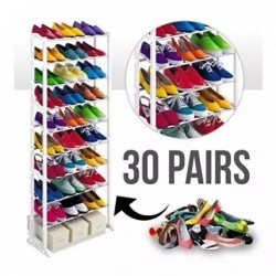 Multicolored 10 Tiered Shoe Rack Organizer
