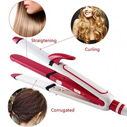 Kemei 3 in 1 Professional Hair Iron Straighter
