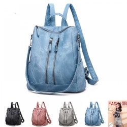 Anti-theft Light Weight Pu Leather Backpack Travel Shoulder Bag