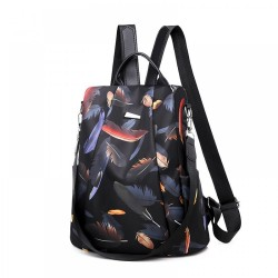 Flower Waterproof Oxford Sling Bags Daypack Anti-theft Backpack Travel Shoulder Bag