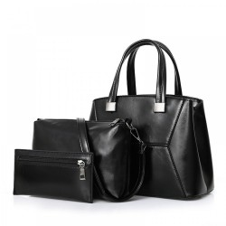 Vintage Pu Leather 3 Pieces Bag Sets Handbag Sets For Women