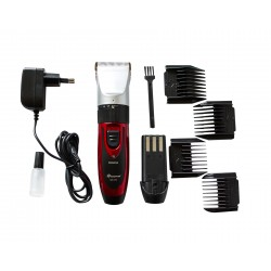 Gemei GM-550 Cordless Ceramic Hair Trimmer Beard Trimmer Ceramic Shaver incl. 2 batteries