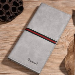 Frosted Pu Leather Long Wallet Pocket Card Clutch Id Credit Bifold Purse