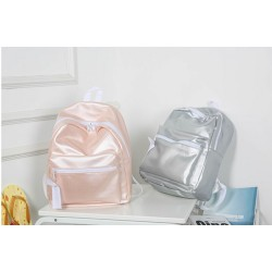 Grey Hologram Laser Pu Leather Mini Backpack For Women