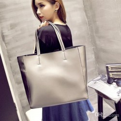 Korean Design High Quality Pu Leather Shoulder Bag For Women-silver and gold