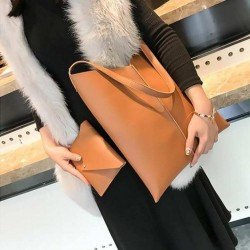 Brown 2-in-1 Tote Shopping Bag For Women
