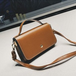 Coffee and Brown Vintage Simple Strap Crossbody Bag For Women