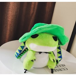 Green Plush Frog Japanese Cartoon Art Schoolbag Stuffed Animal Toy Shoulder Bag