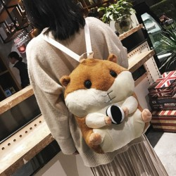 Cute Multi-function Plush Toy Doll Pillow Winter Backpack