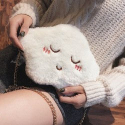Hairy Cloud Diagonal Shoulder Single Cute Girl Small Side Bag