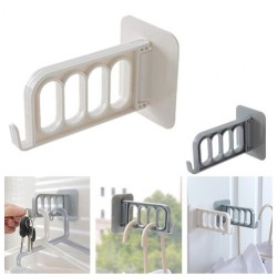 Multifunctional Plastic Hanging Hook Rack Clothes Storage Rack