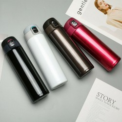500ml Portable Office Travel Mug Water Bottle Cup Stainless Steel Cup Flask