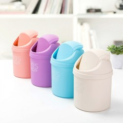 Mini Small Desktop Garbage Basket Table Waste Bin Home Office Trash Can