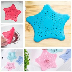 Five-pointed Star Silicone Sucker Kitchen Sink Anti-clogged Bathroom Sewer Drainage Hair Filter