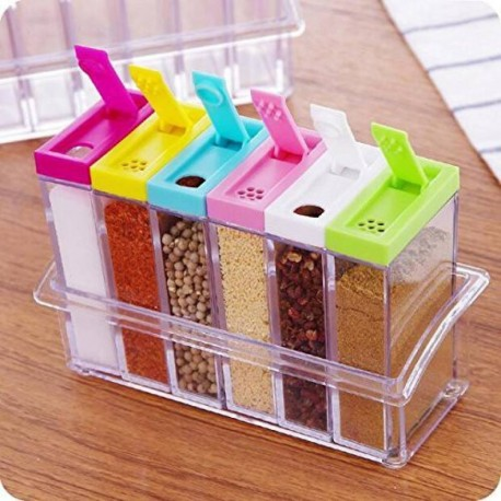6 PCs Jar Spice Rack