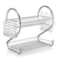 S-Shaped Dual Layers Dish Drying Rack