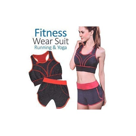 Girl's and Woman's Yoga Wear Suit Fitness Workout Clothing Gym Sports Running Slim Shorty and Bra